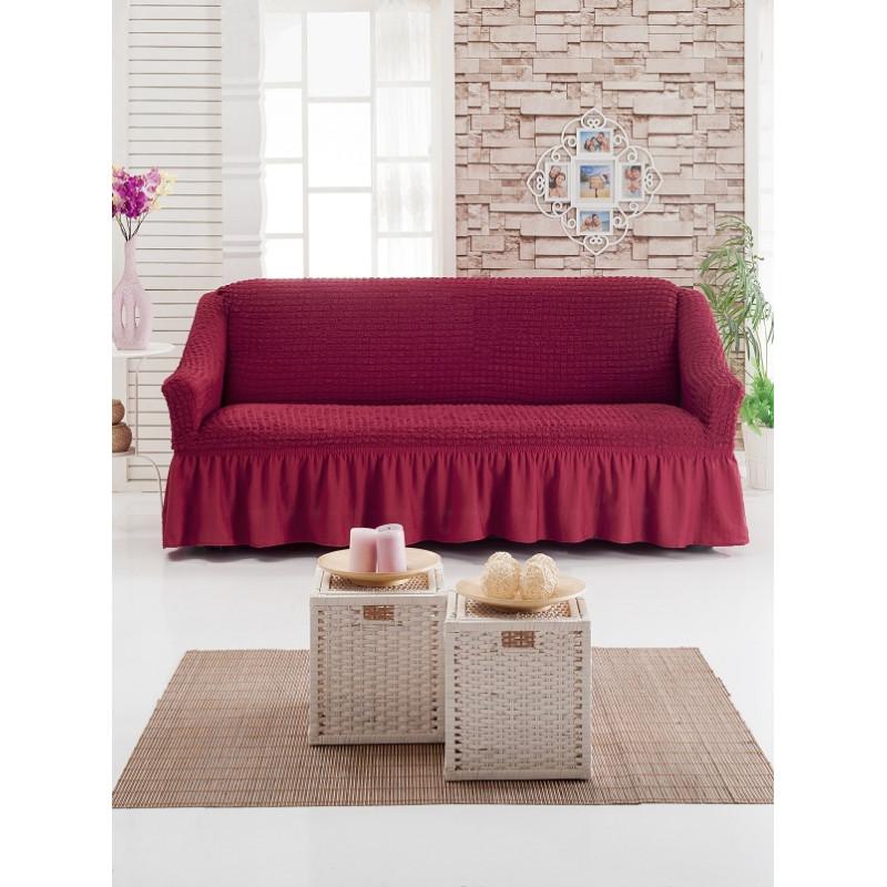 242Универсальный чехол на резинке на диван