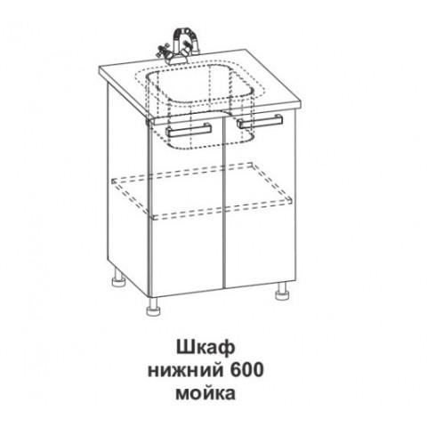 Шкаф нижний мойка Крафт ШНМ 600