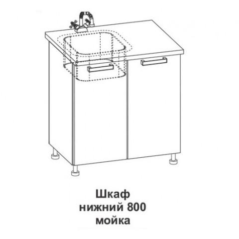 Шкаф нижний мойка Крафт ШНМ 800