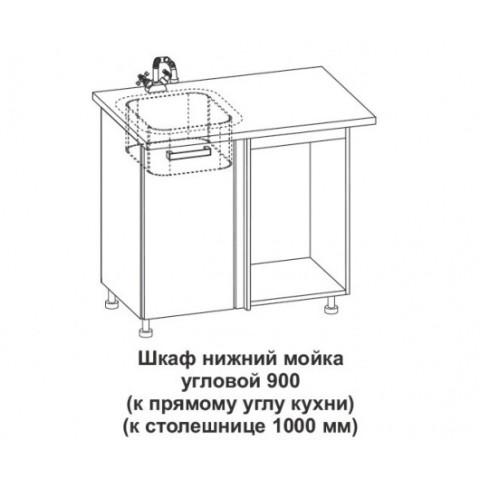 Шкаф нижний мойка угловой Крафт ШНУМ 1000